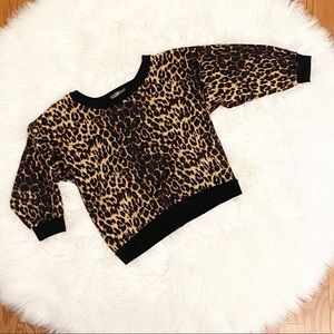 Exotic Animal Print Top with Lace Back
